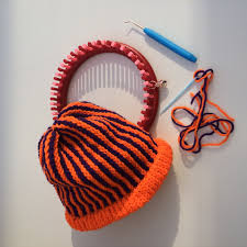halloween hats halloween hat with vertical stripes on knituk knitting loom