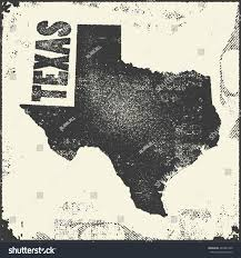 State Map Usa by Texas Vector Map Stamp Retro Distressed Stock Vector 483981496