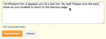 settings for blogger 404 error page redirects and meta tags