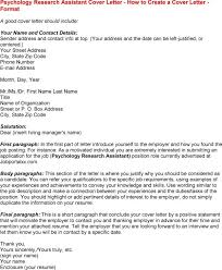 luxury psychology research assistant cover letter 31 in cover
