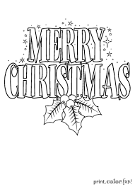 merry christmas signs merry christmas sign coloring page print color