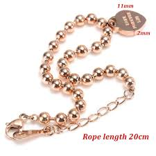 love pendant bracelet images Rose gold love forever 520 love heart pendant beads bracelet for jpg