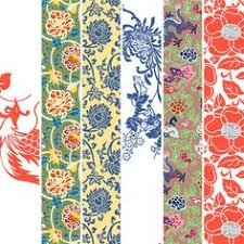 asian wrapping paper folk paintings in the autumn miscellaneous