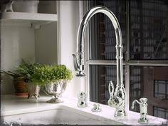 Pewter Kitchen Faucets Waterstone Traditional Pull Down Faucet In Antique Pewter