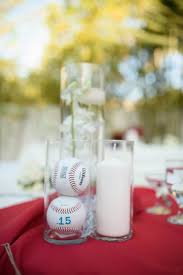 baseball centerpieces featured wedding drew s baseball themed wedding the