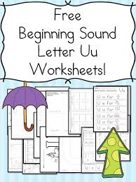 beginning sounds letter u worksheets free and fun