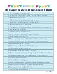 25 summer acts of kindness 4 kids dsm4kids