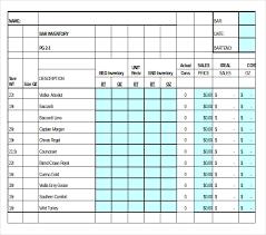 Bar Liquor Inventory Spreadsheet 15 Liquor Inventory Templates Free Sle Exle Format