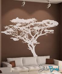vinyl wall decal sticker safari tall tree os aa104t