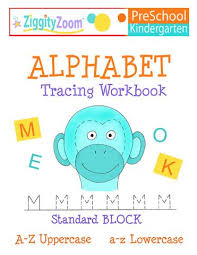 alphabet tracing uppercase u0026 lowercase letter workbook for