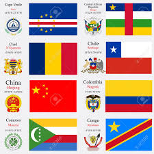 Comoros Flag World Flags Of Cape Verde Central African Republic Chad Chile