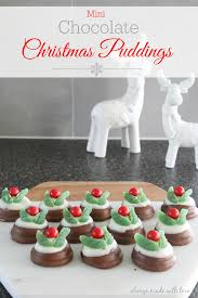 mini chocolate christmas puddings always made with love