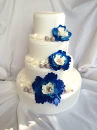 wedding cake royal blue wedding cake flowers 51pcs wedding cake topper edible fondant