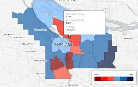 Portland Maps Com by Portland Gentrification 2000 2014 Oregonlive Com