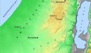 negev desert map testament map history