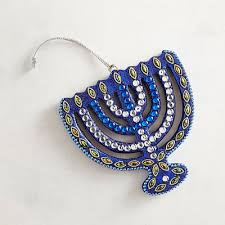 hanukkah beaded menorah ornament pier 1 imports