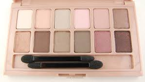 maybelline blushed eyeshadow palette review swatch and review