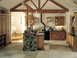 kitchen style stone tile flooring natural finishes cabinets