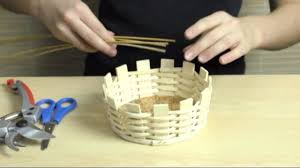basket weaving easy basket tutorial zuckerlkorb2 youtube