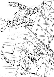 spiderman swining printable coloring pages index