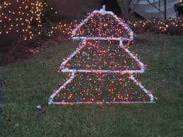 Christmas Yard Decorations You Can Make by Pvc Christmas Tree Lighted Yard Decoration Yard Decorations