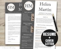 Instant Resume Template Classy Resume Template Instant Download Resume Cover Letter