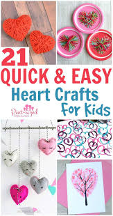 21 quick and easy heart crafts for kids heart crafts easy peasy