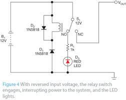 simple reverse polarity protection circuit has no voltage drop edn