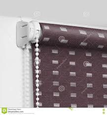 roller blind fixed on the top of the window stock photo image