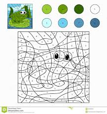color by number frog stock vector image 50653693