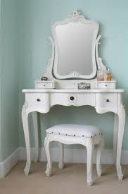 Tesco Vanity Table Chateau Vintage Style Antique White Dressing Table Mirror Stool