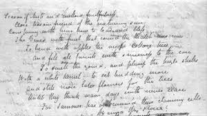 autumn writing paper john keats to autumn original manuscript youtube john keats to autumn original manuscript