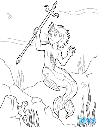 merman prince coloring pages hellokids com