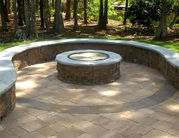 Firepit Pavers Paver Patio Firepit With A Twist Question Landscaping