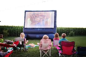 Backyard Movie Theatre by Movie Night Birthday Party Pear Tree Blog