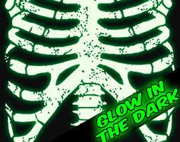 Glow In The Dark Skeleton Costume Glow In The Dark Rib Cage Skeleton T Shirt Horror Punk Rock