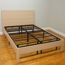 bedroom king size bed without box spring wood platform bed