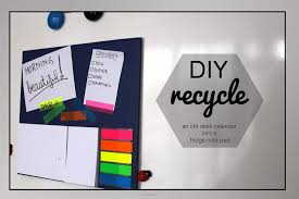 diy recycle a desk calendar into a fridge note pad janded