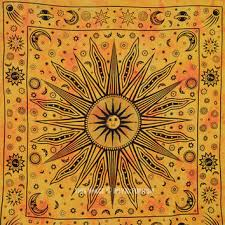 Sun And Moon Bedding Large Yellow Celestial Psychedelic Sun From Royal Furnish Sun