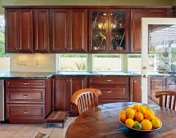 Granite Countertops With Cherry Cabinets Cherry Cabinets Kitchen Contemporary With Corian Cherry Cabinets
