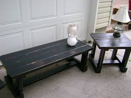 distressed black end table distressed coffee table trunk and end tables piece living room small