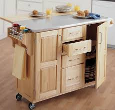 Furniture Kitchen Storage Furniture Kitchen Stainless Steel Top Wooden Kitchen Island With