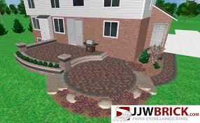 Backyard Paver Patio Designs Pictures Raised Brick Paver Patio Design U0026 Installation Chesterfield Mi