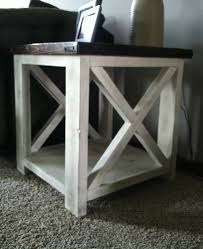 X Side Table Ana White Rustic X Coffee Table Diy Projects