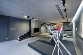 Garage Tech Amazing Modern House Design With Glass Walled Garage By Millimeter