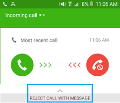 message android how to answer calls with text message on android phone