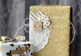glitter wrapping paper my mind s eye s day gift wrap