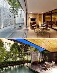 two rooms home design news oculus of trees lush courtyard separates two homes read more