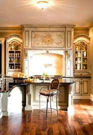magnificent european kitchen cabinets features red color oak wood