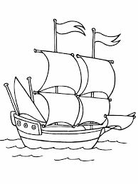 mayflower boat coloring free printable mayflower coloring